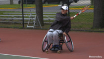Wheelchair-bound Tennis Player Competes on New York Varsity Team