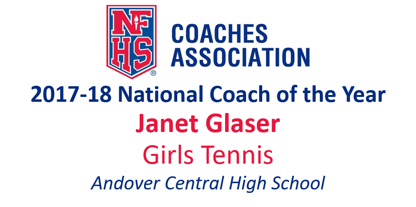Janet Glaser: National Girls Tennis National Coach of the Year (2017-18)