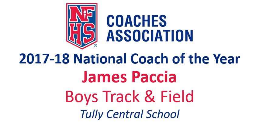 James Paccia: National Boys Track & Field Coach of the Year (2017-18)
