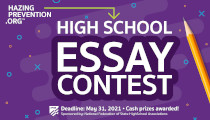Hazing Prevention.org Sponsors High School Essay Contest